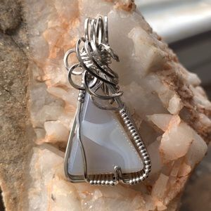Jewelry - Blue Lace Agate pendant